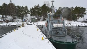 sjöbevakarnas båt vid glosholm borgå