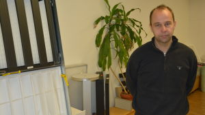 Vd Peter Nordlund vid Filterpak Oy Ab.