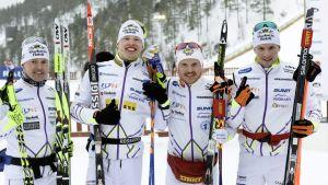 Vuokatti Ski Team efter FM-guldet 2015.