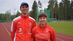 André Forsström och Pia Björkqvist