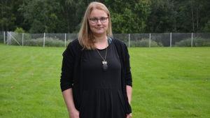 Sarah Ek, jägare och verksamhetsledare för vasanejdens jaktvårdsförening