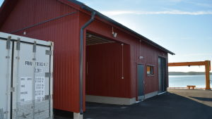 Fiskehallen i Joddböle i Ingå används inte som planerat