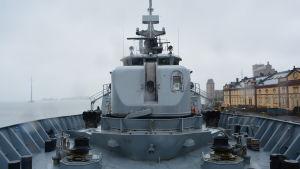 Kanonen på minfartyget Hämeenmaa.