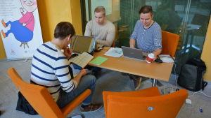 Studerande vid Åbo Akademi.