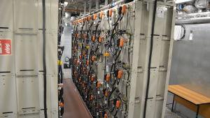 Batteripaketet som driver hybridfärjan Elektra.