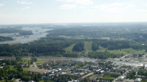 flygfoto över Borgå med Kokonområdet