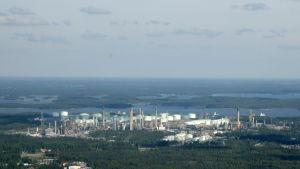 flygbild från Sköldvik i Borgå