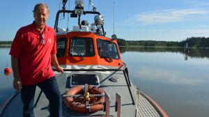 Henry Littman, ordförande för Lovisanejdens sjöräddare