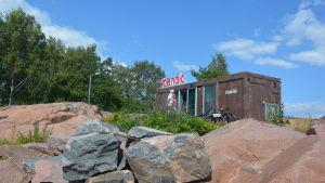 Scandic barackhotell i Hangö.
