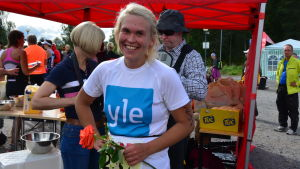 Sandra Sundvik är glad och säger att det skönaste under hela loppet är att vara i mål.