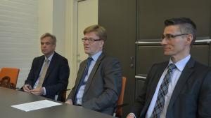 Från vänster: Kjell Sundström, Tapio Kosunen och Örjan Andersson