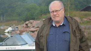 Båtägare Håkan Fagerström från Ingå.