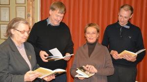 Fyra tidigare och nuvarande SFP-ordförande: Kerstin Ilander, Björn Siggberg, Karin Svahnström och Anders Walls.