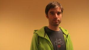 Roger Sittnikow är teknisk rådgivare för Helsingfors cyklister.
