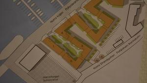 Här byggs de första husen i Norra hamnen i Ekenäs
