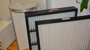 Luftfilter på Filterpak Oy Ab i Hangö.