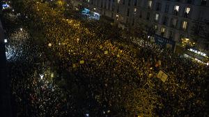 Solidarietsmarsch i Paris 11.1.2015 till minne av offren för veckans terrordåd.