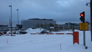 Porten till Talvivaara gruva januari 2015