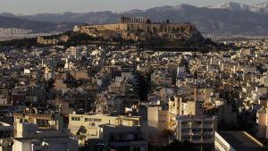 Vy över Aten