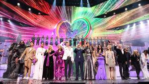 Eurovisionens 60 årsjubileums firades på BBC.