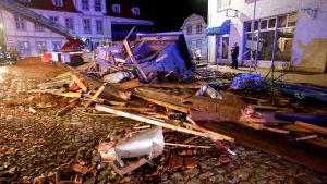 Tornado i tysk stad
