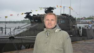 Vd Niko Haro för båttillverkaren Marine Alutech från Teijo i Salo.