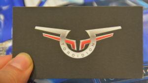 Företaget Toroidions visitkort.