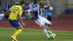 Rasmus Schüller och HJK drömmer om Champions League.