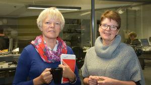 Ulla-Stina Engström och Eivor Huldén