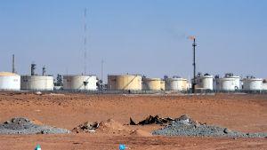 Gasanläggningen In Amenas i Algeriet i januari 2013.