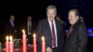 President Niinistö och Heikki Hursti