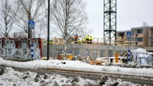 Byggarbetsplats i Nickby