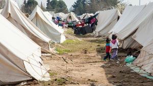 Flyktingläger i Grekland