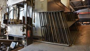 Staket som tillverkats i Västanfjärds mekaniska verkstad.