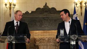 Putin och Tsipras i Aten