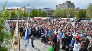 Öppningen av sång-och musikfesten i Karleby, den 24:e i ordningen