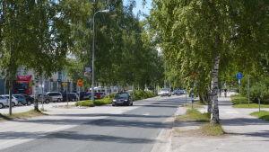 Östra infarten till Jakobstad skall småningom breddas