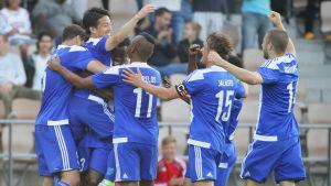 HJK firar i kvalet till Europa League.