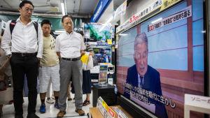 Japans kejsare Akihito i sällsynt tv-framträdande.