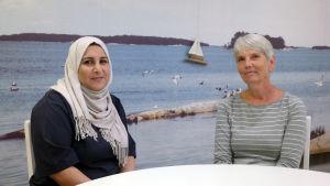 Najlaa Adnan och Niina Viiala-Laude