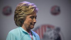 Hillary Clinton under ett valmöte i augusti 2016.