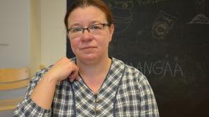 Modersmålslärare Heidi Ramstedt.