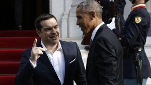 Premiärminister Alexis Tsipras och president Barack Obama i Aten.
