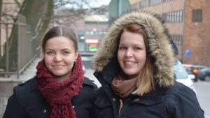 Ann-Sofi Österberg och Taina Riekkinen.