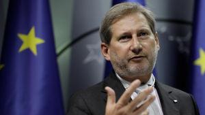 EU-kommissionären Johannes Hahn ansvarar för unionens utvidgningspolitik.