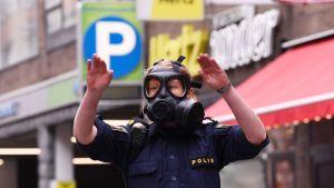 Terrorattack i Stockholm.