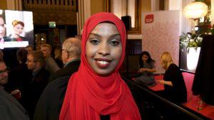 Habiba Ali på SDP:s valvaka.