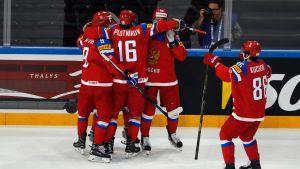 Ryssland fick fira i kvartsfinalen mot Tjeckien.