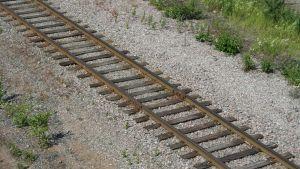 Järnvägsspår i Lovisa.
