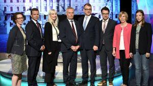 Politiker som deltog i programmet A-studio 12 juni 2017